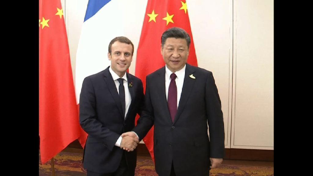 法國總統馬克龍展開訪華行程