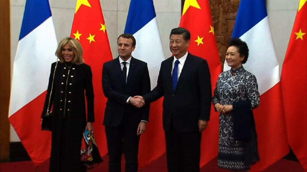 馬克龍訪華 中法同意加強一帶一路合作