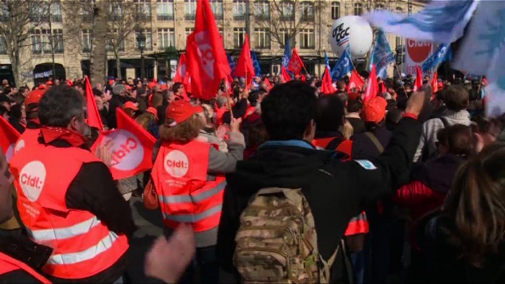 法國數百人集會抗議修改勞工法