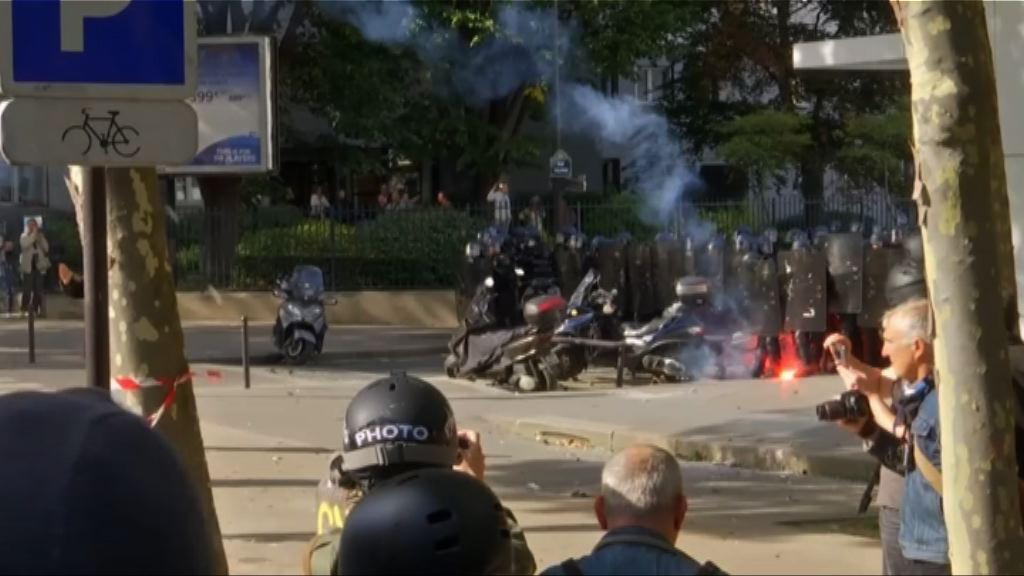 法國抗議改革勞動法 示威演變衝突
