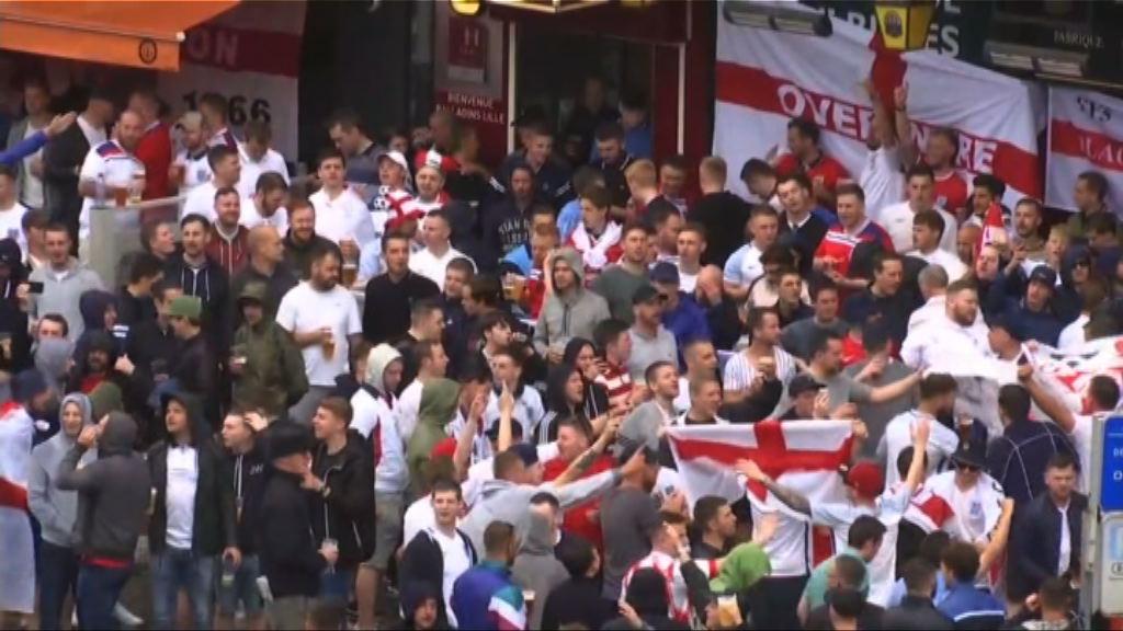 歐洲足協:英格蘭球迷未構成即時威脅