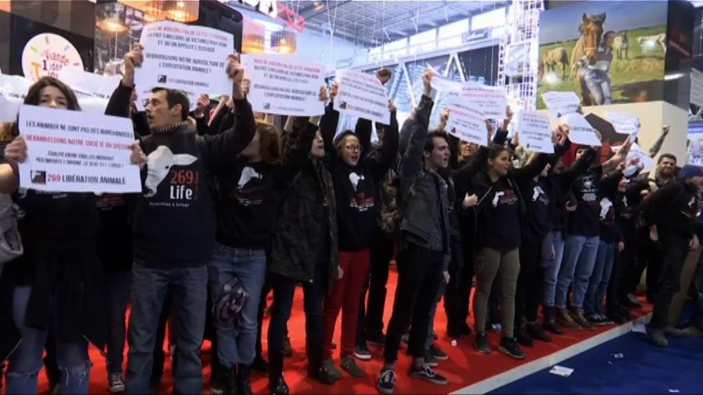 馬克龍參觀農業博覽會遇示威