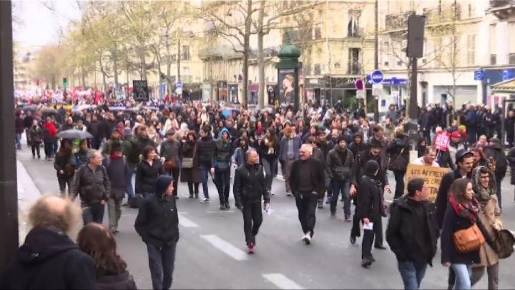 法國示威抗議新勞工法演變衝突