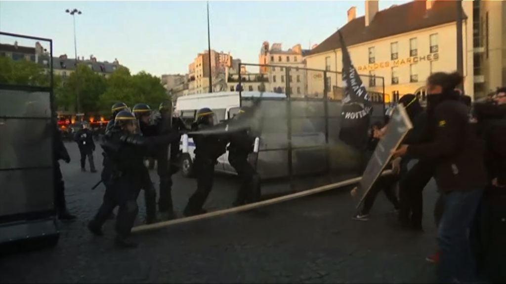 反瑪麗勒龐示威者與警衝突