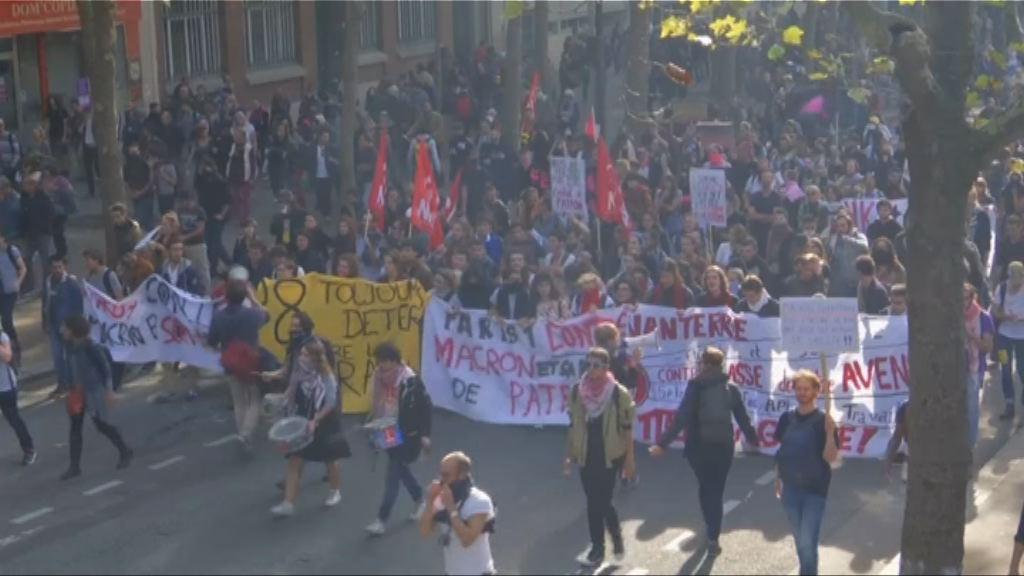 法國示威抗議勞動法改革演變成衝突
