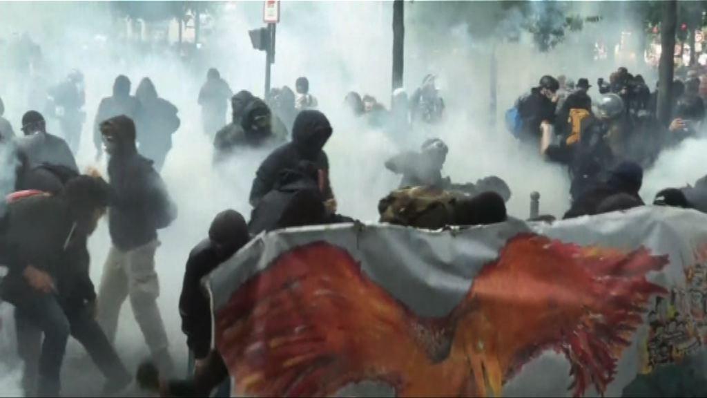 法國罷工遊行 有示威者與警察爆發衝突