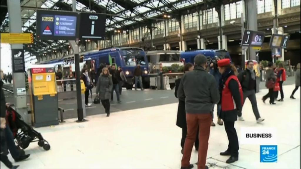 法國鐵路工人展開三個月大罷工