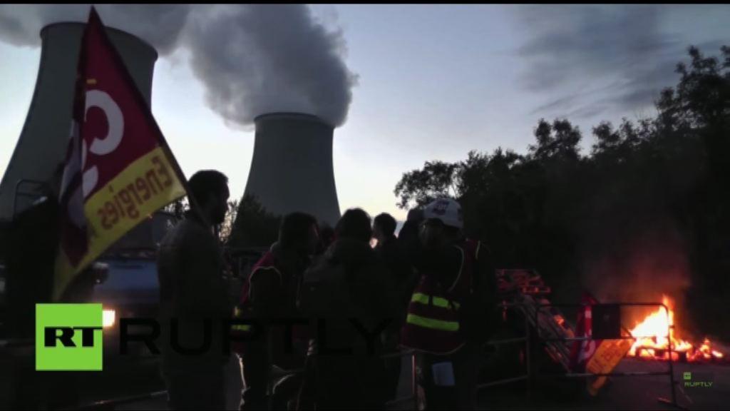 法國多間核電廠響應罷工一天