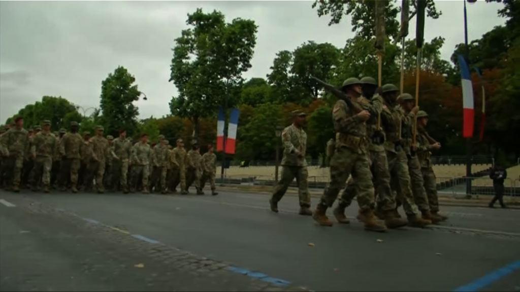 美軍巴黎綵排預備法國國慶閱兵