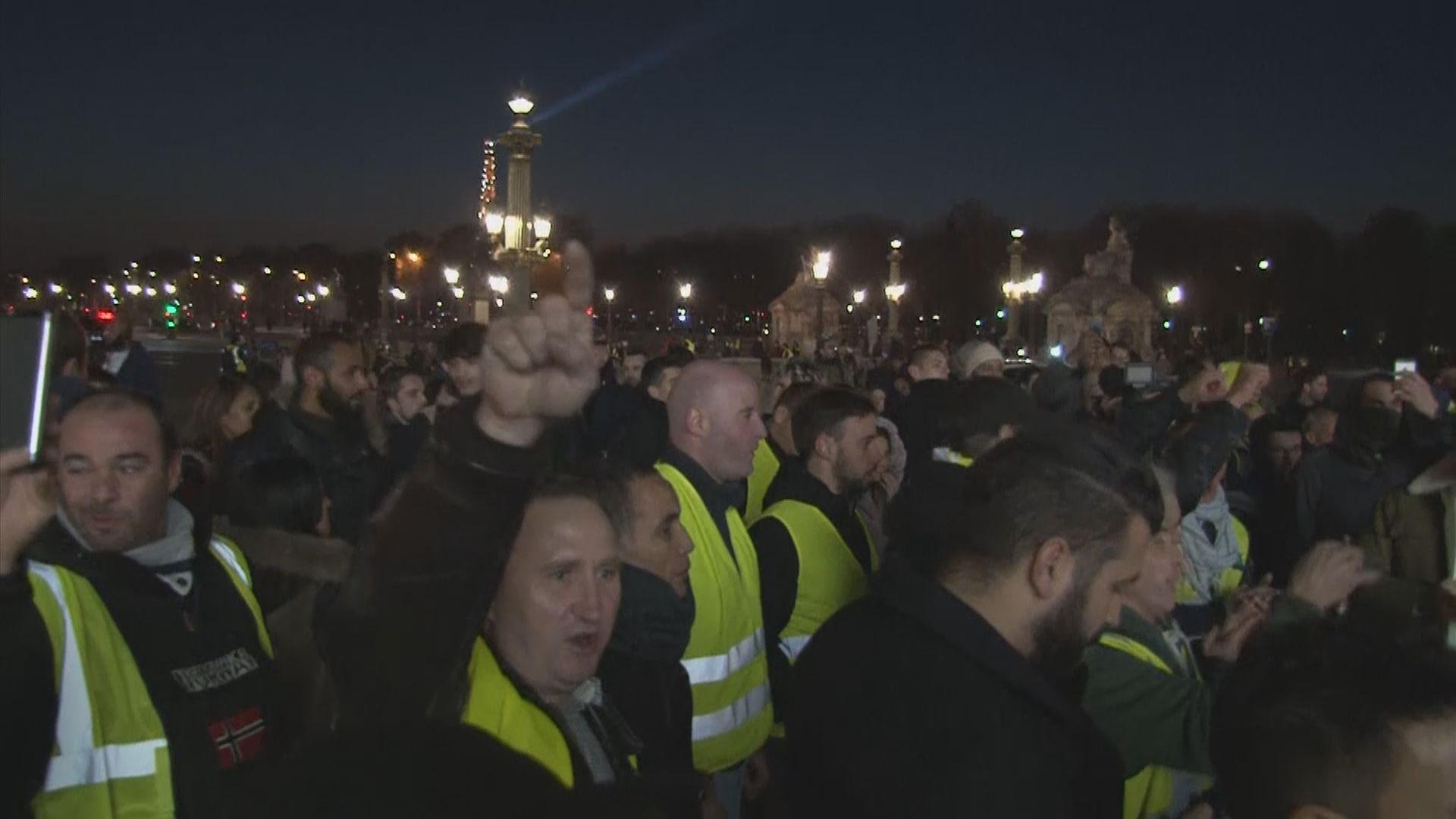 法國逾28萬人示威反對調高燃油稅
