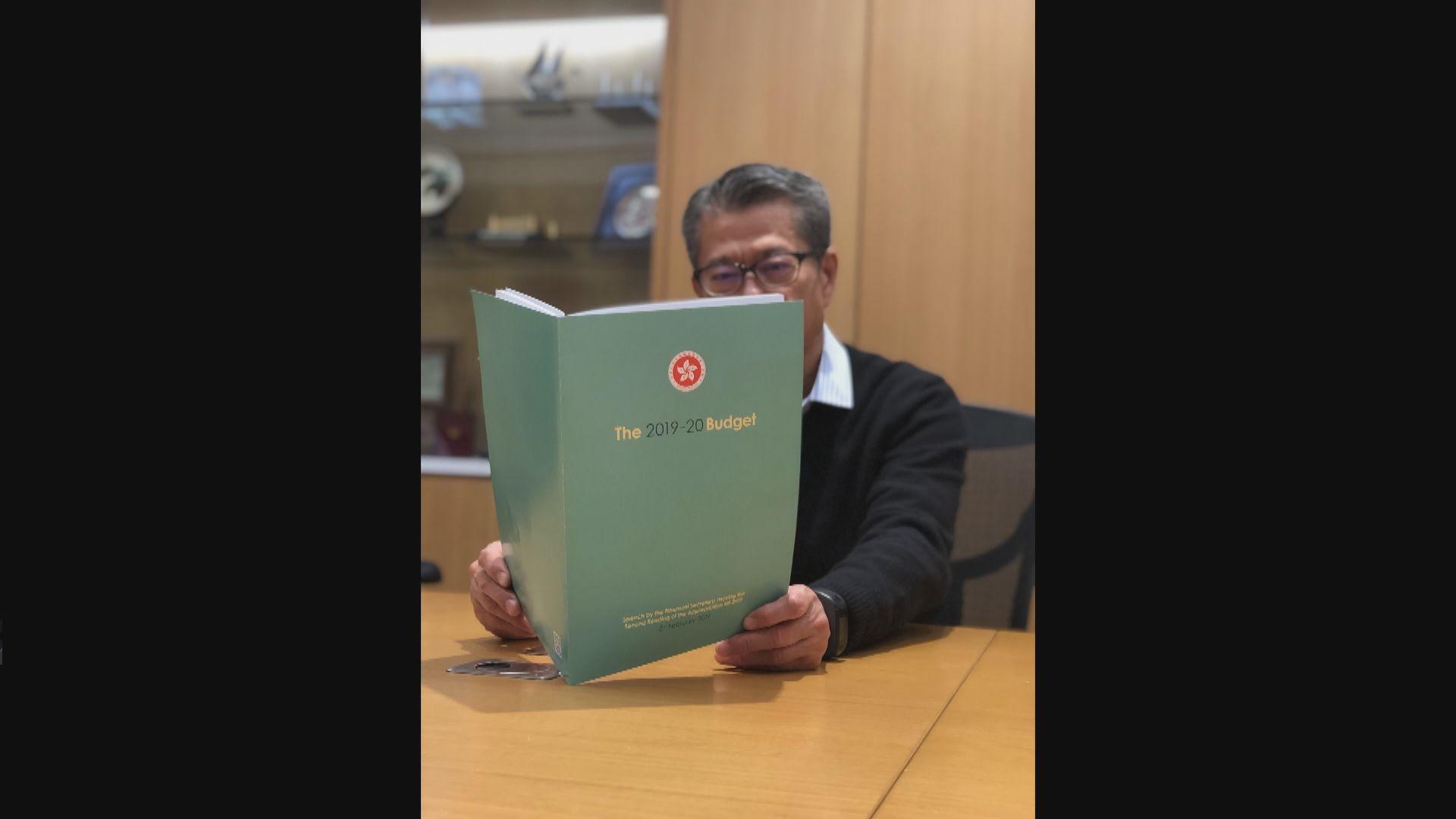 陳茂波:新一份預算案以粉綠色作封面