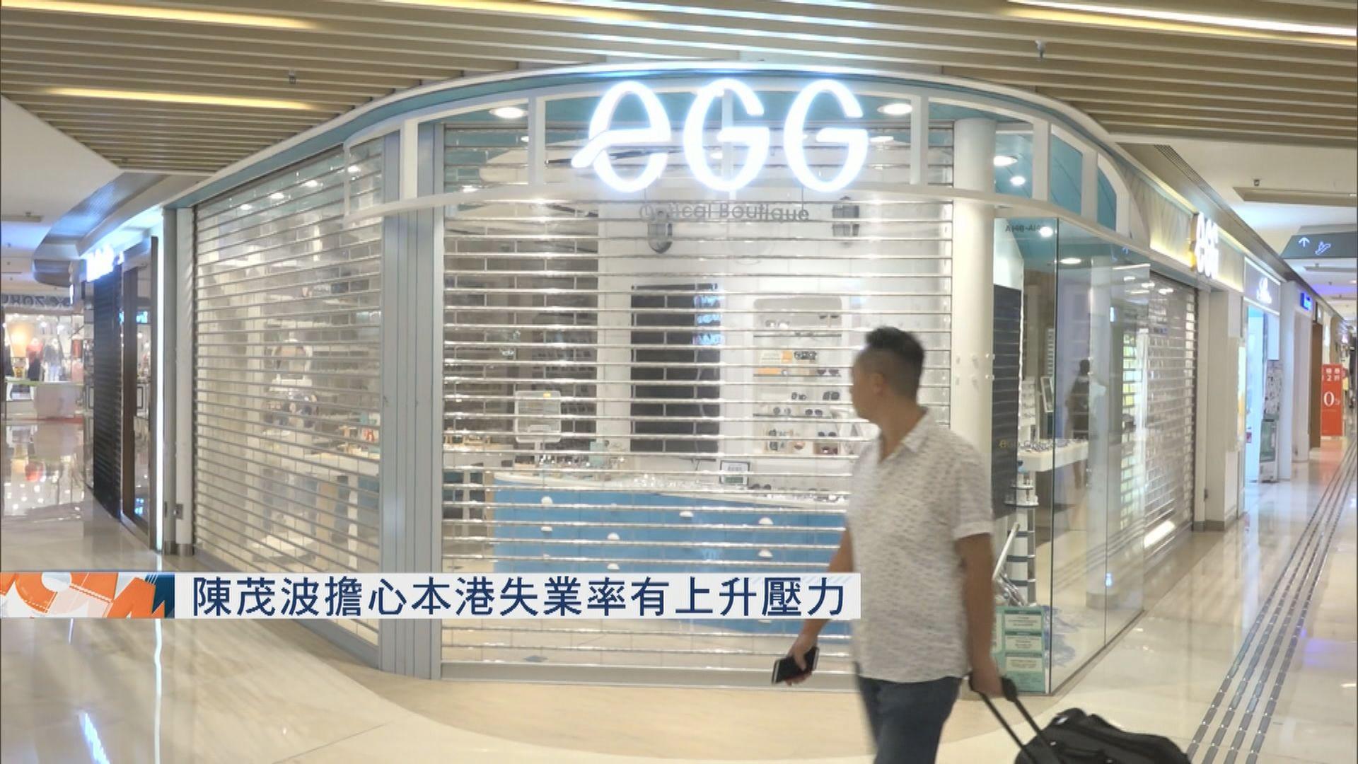 陳茂波擔心本港失業率有上升壓力