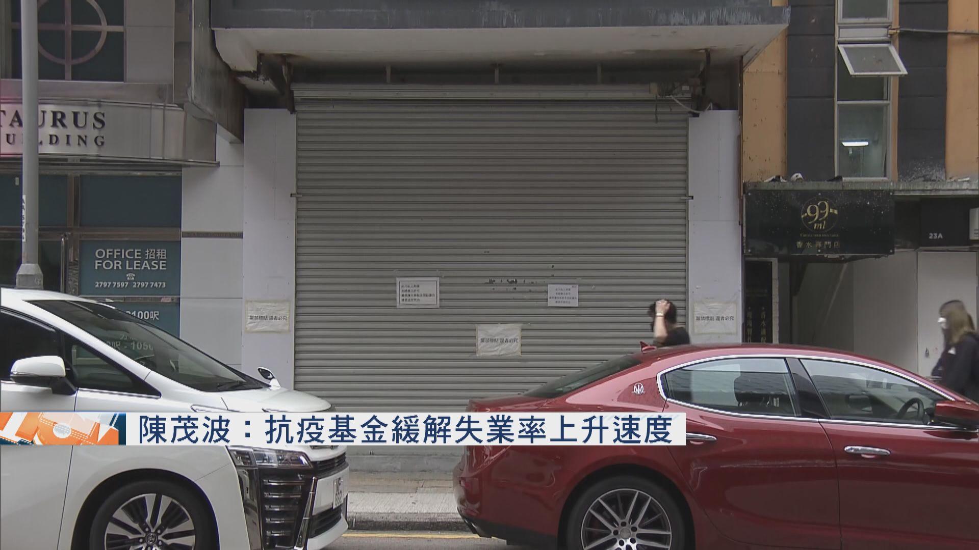 陳茂波:抗疫基金緩解失業率上升速度