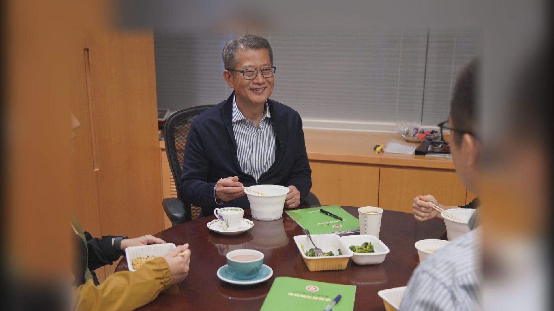 陳茂波:赤字急升至歷史新高要「睇餸食飯」