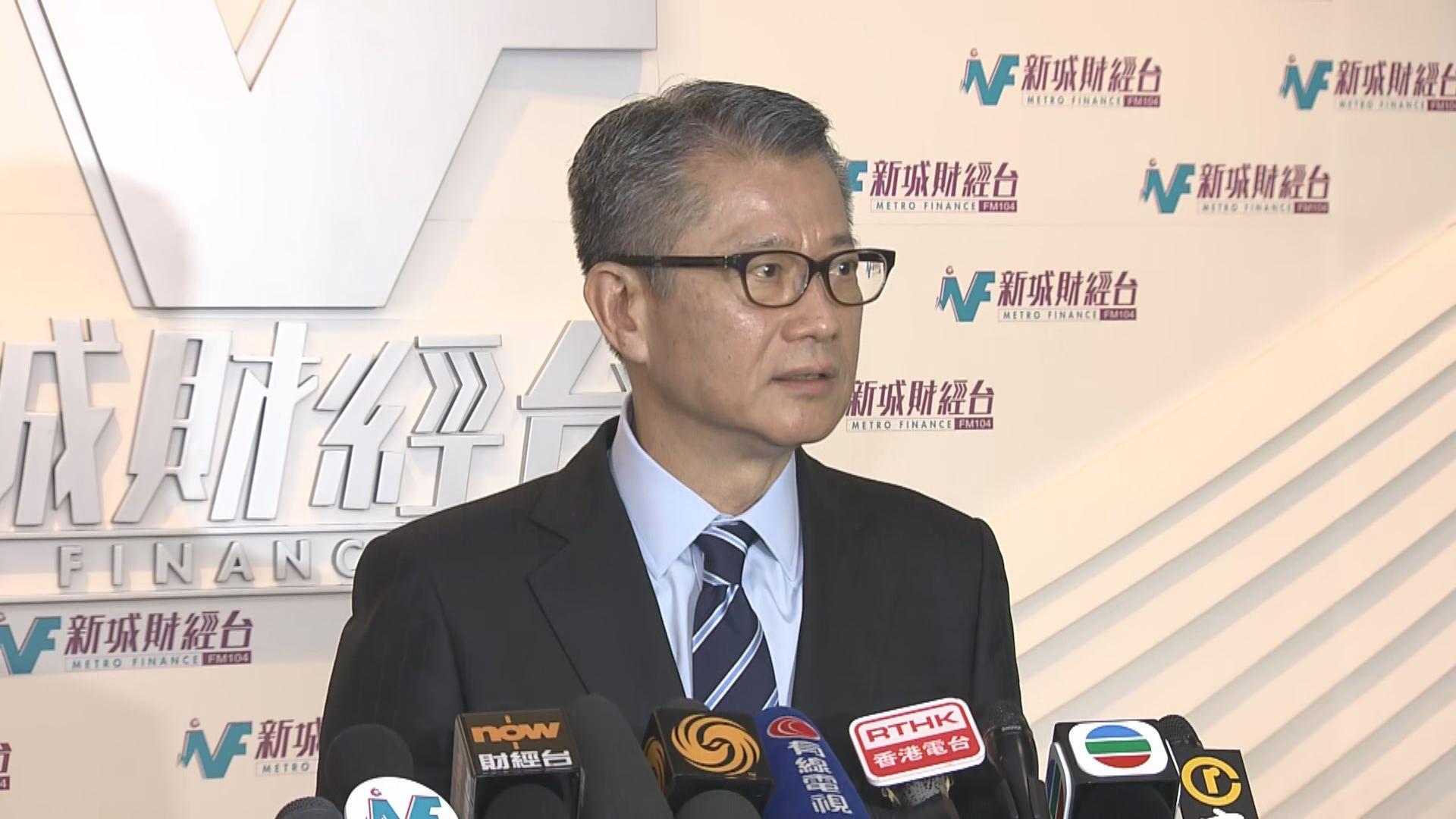 陳茂波:上周訪港旅客按年減少近40%