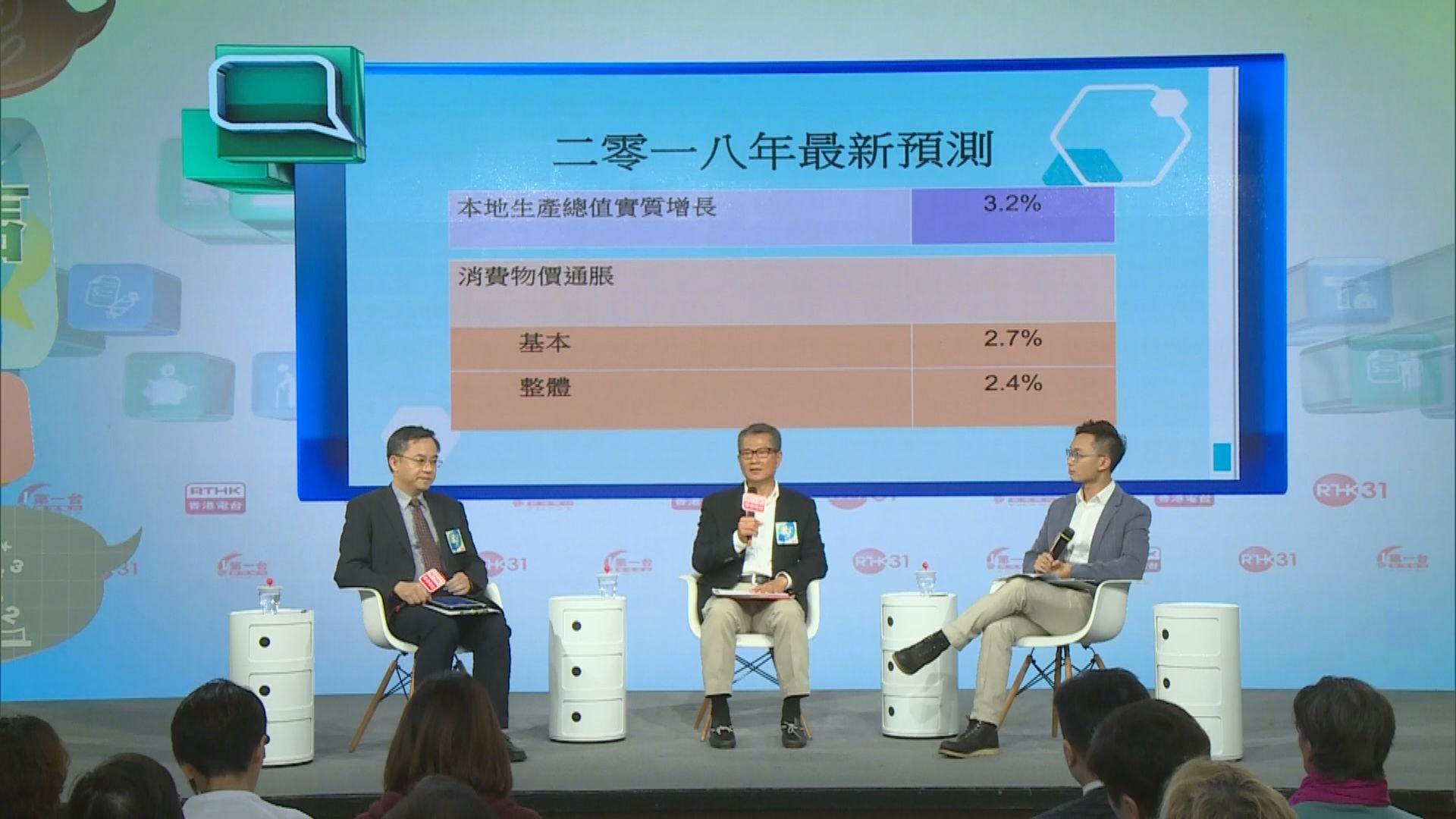 陳茂波︰預算案考慮訂逆周期措施