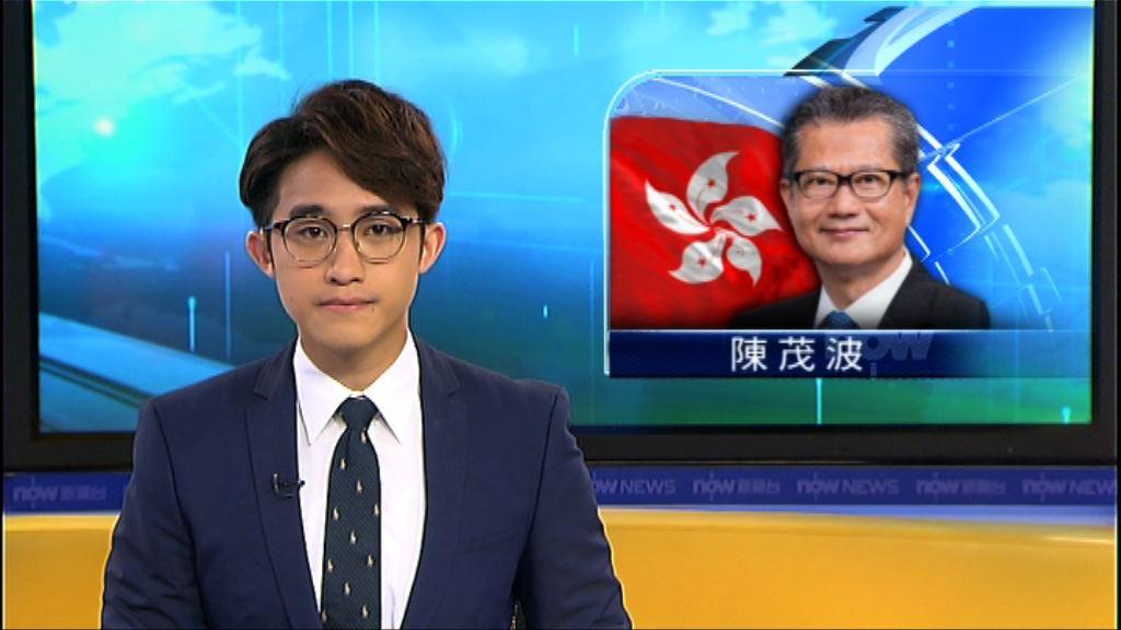 陳茂波指外圍環境為香港經濟添變數