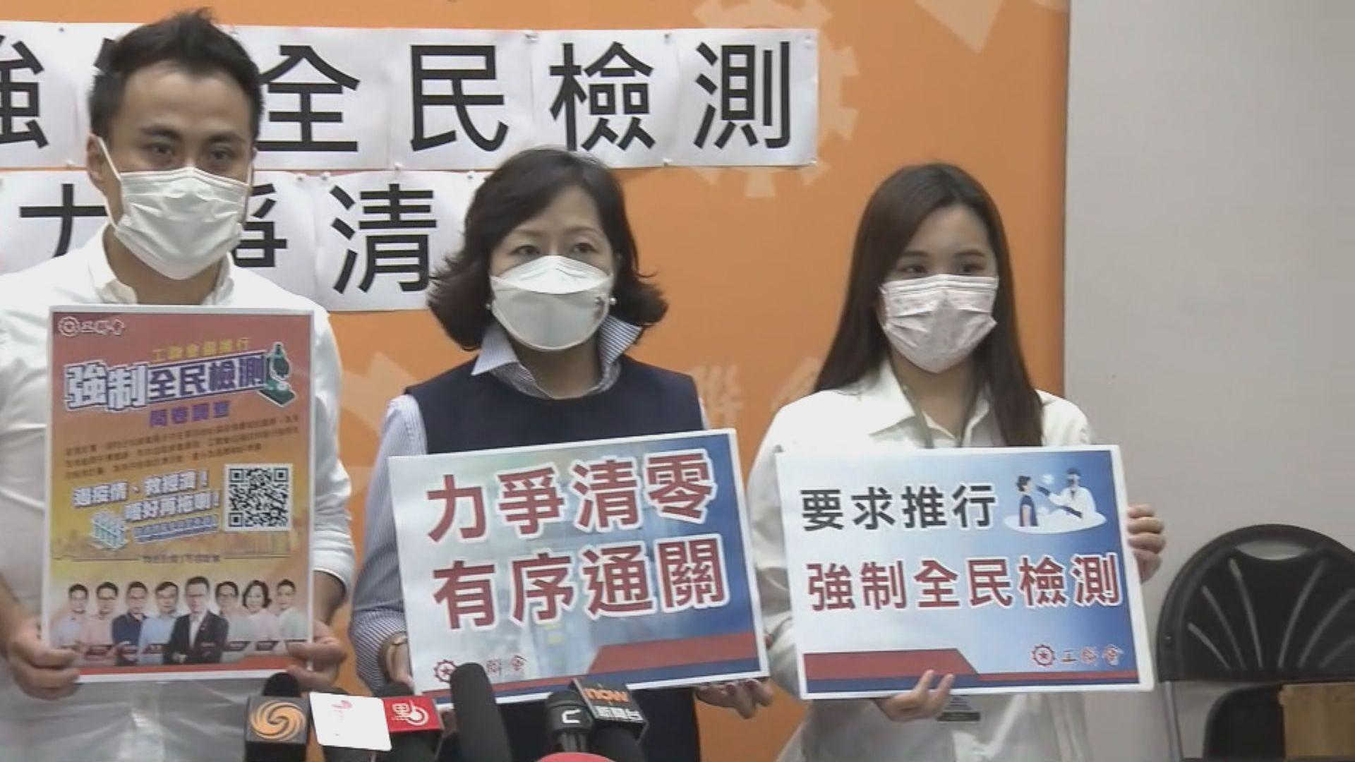 工聯會促強制全民檢測封城兩周 同時派一萬元