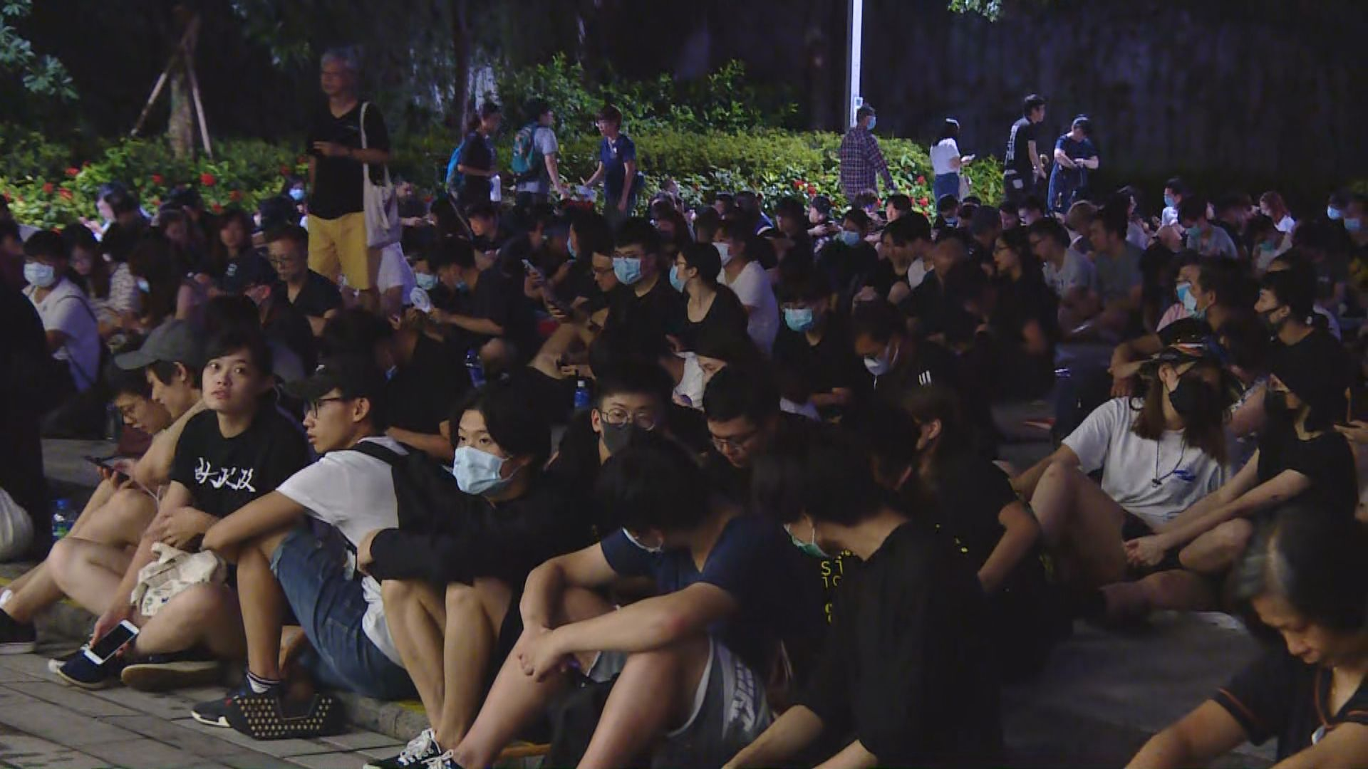 網民發起於立法會示威區通宵集會
