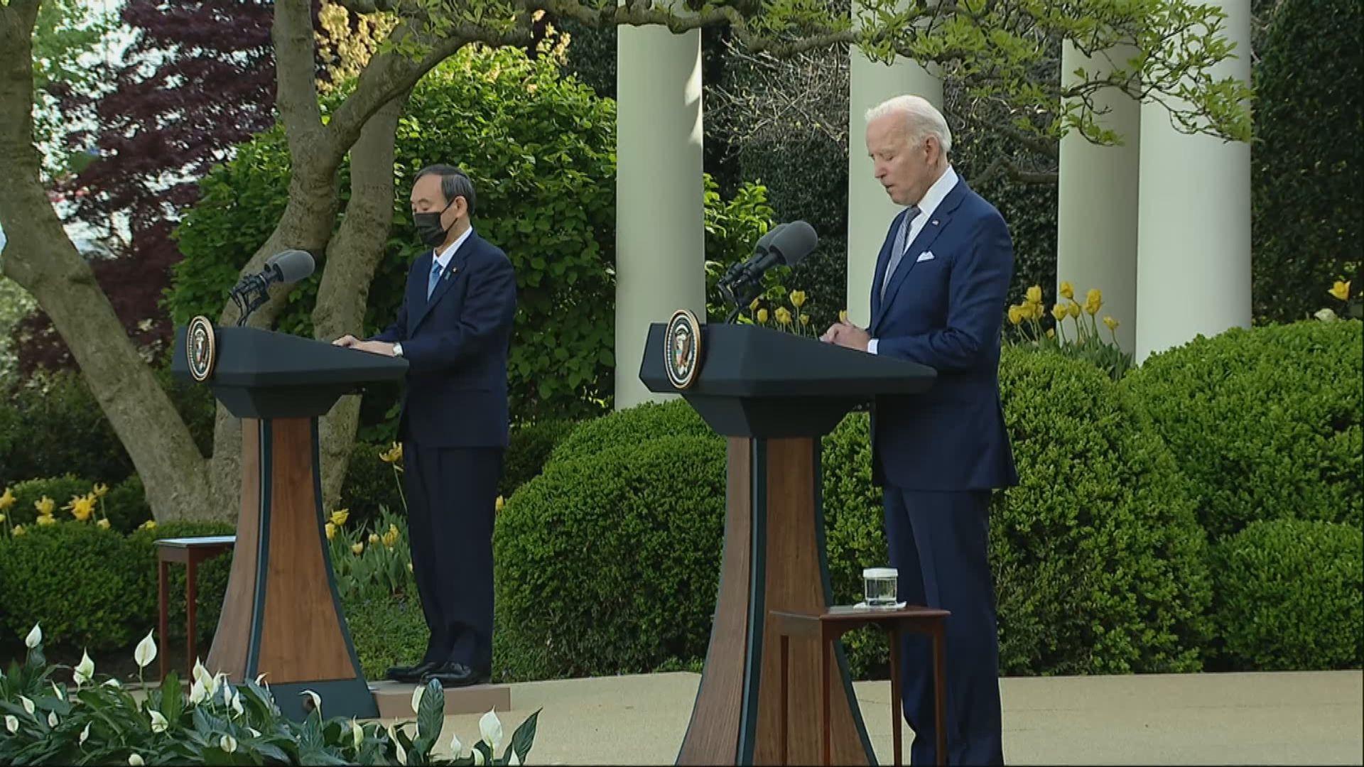 美日領袖雙邊會談提及台海和平穩定問題