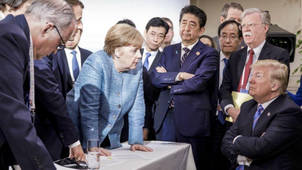 G7峰會相片展示緊張氣氛