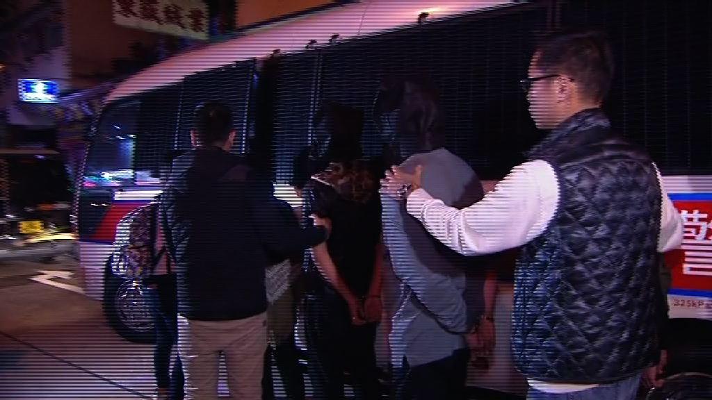 旺角反賭博行動警方拘19人
