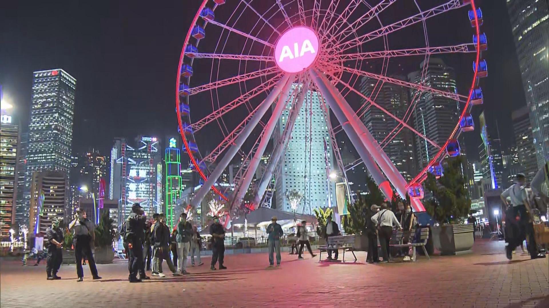 中環街頭表演涉違限聚令11人接罰單