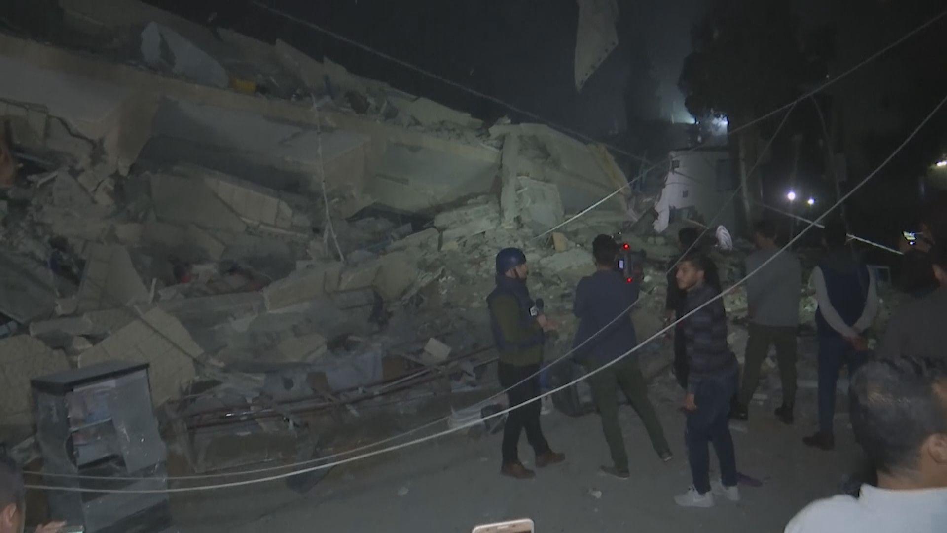 以色列軍方大舉攻擊加沙報復