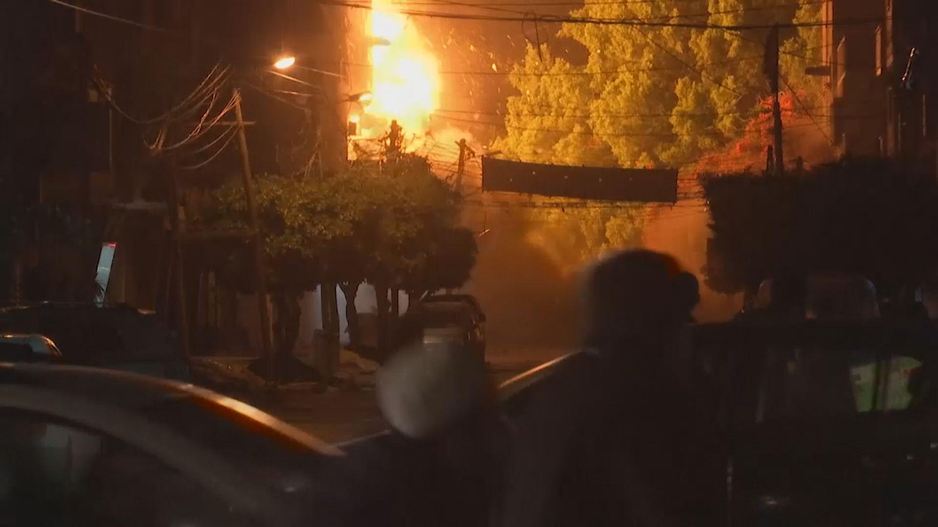 以軍攻擊加沙報復巴勒斯坦火箭襲擊