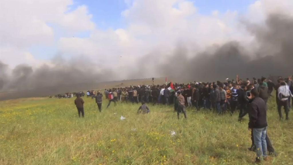 巴勒斯坦人反以色列示威遭武力鎮壓