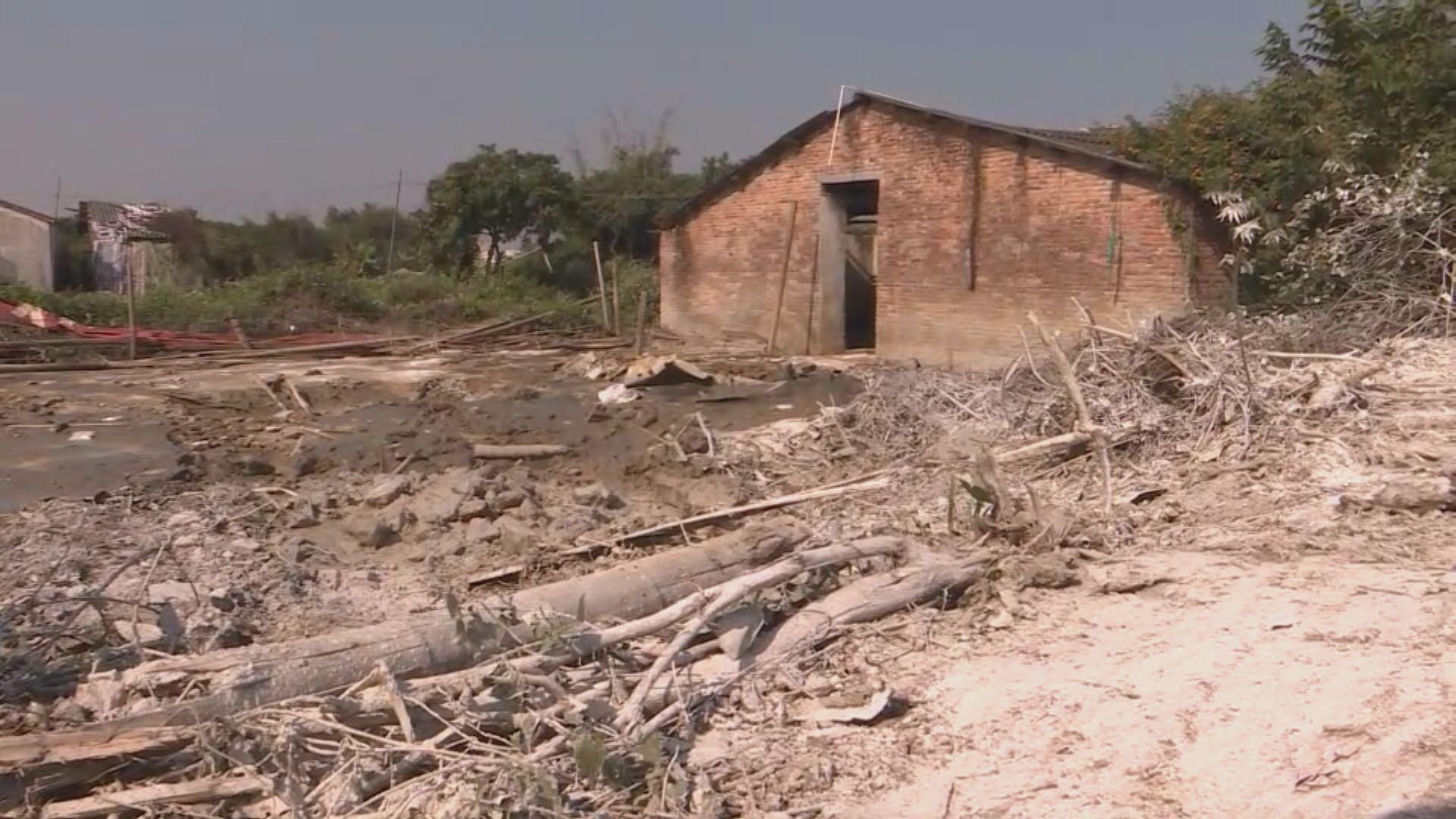 確診非洲豬瘟的惠州豬場已被拆毀
