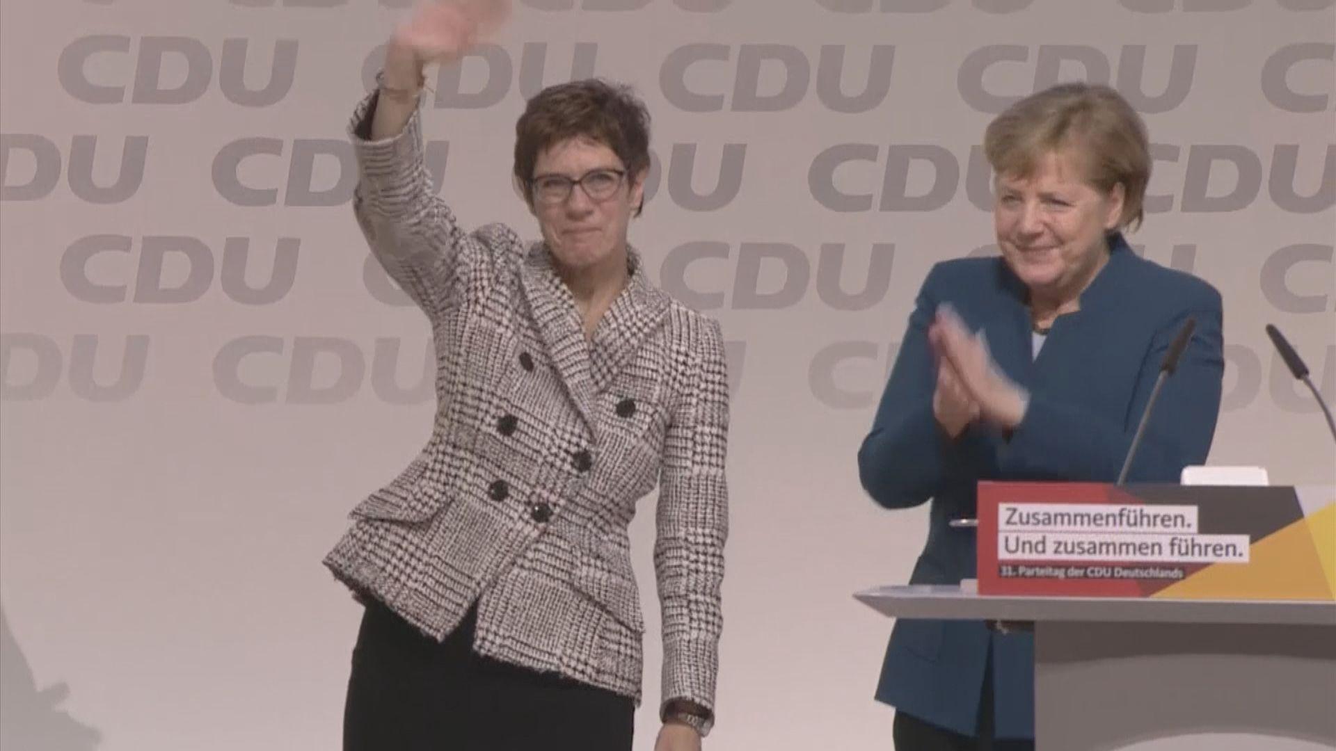 克蘭普卡倫鮑爾當選德國基民盟主席