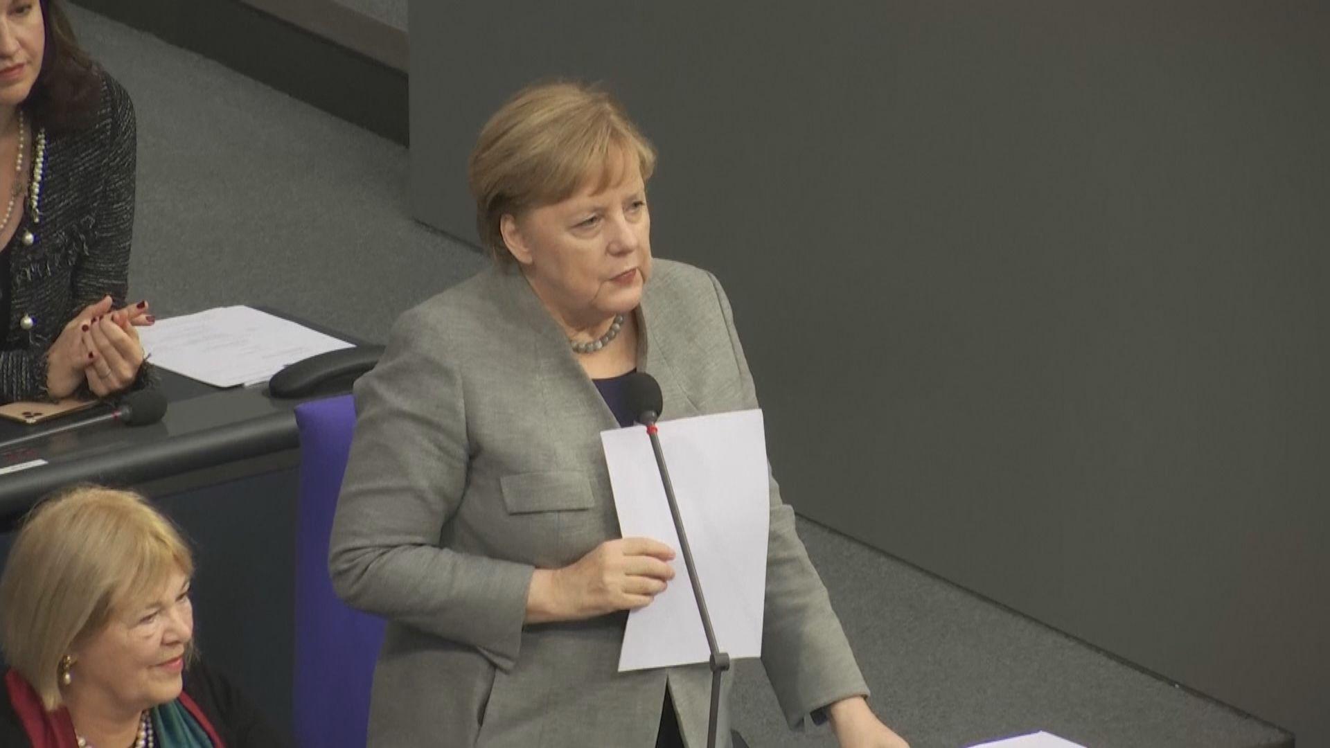 默克爾稱無人提及中方就華為向德國施壓