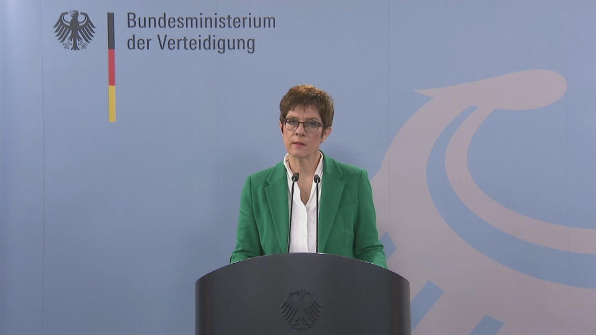 德國防長指中國企圖塑造世界秩序