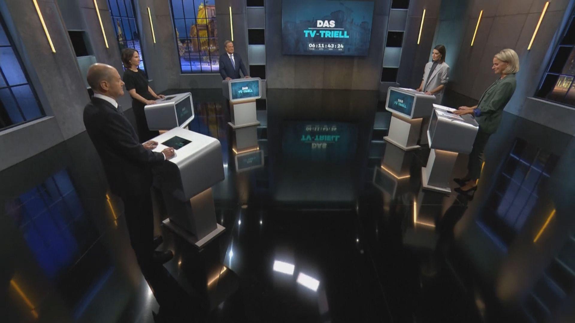 德國大選 候選人進行最後一場電視辯論