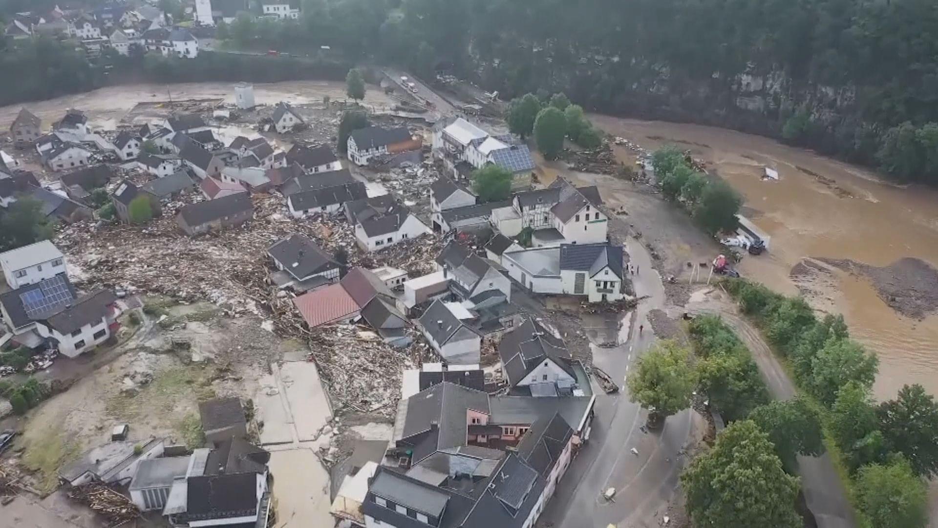 德國西部暴雨成災 據報至少19人死亡逾70人失蹤