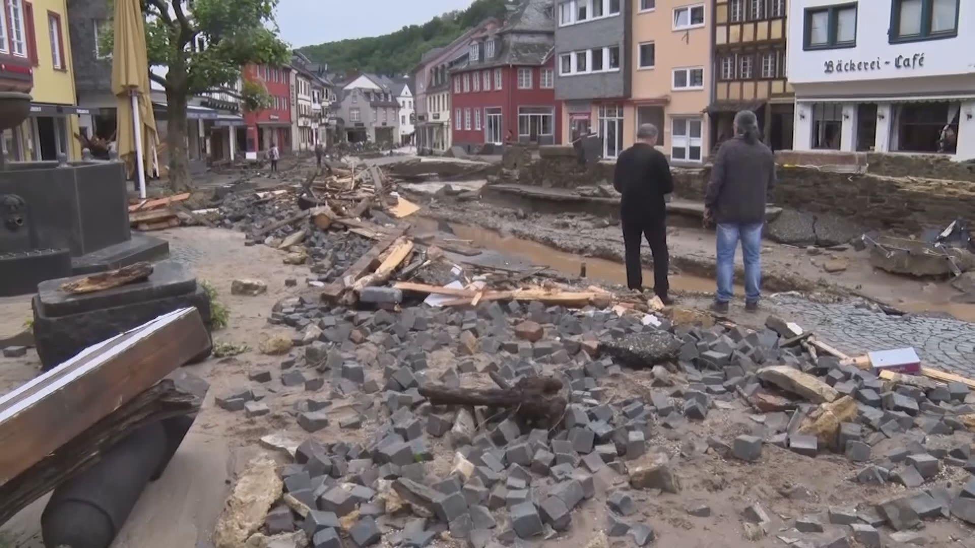 德國西部暴雨成災釀死傷 不少城鎮與外界失聯