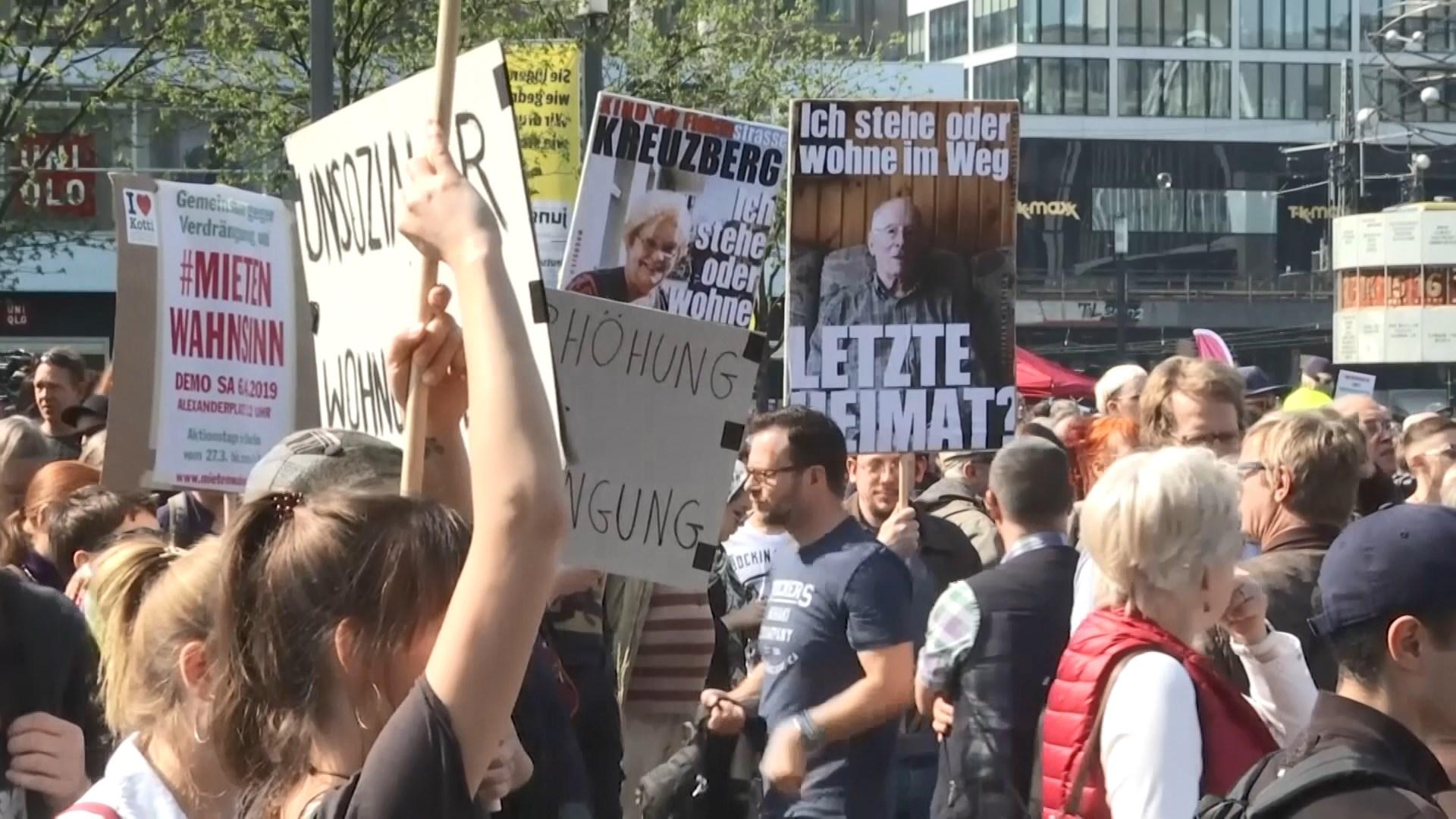 德國柏林民眾抗議租金持續上漲