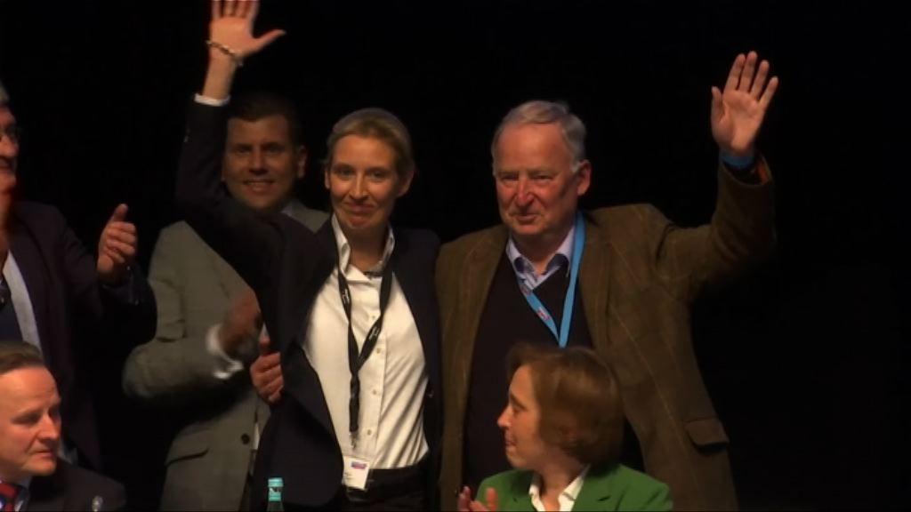 德國極右政黨另選兩代表出戰大選