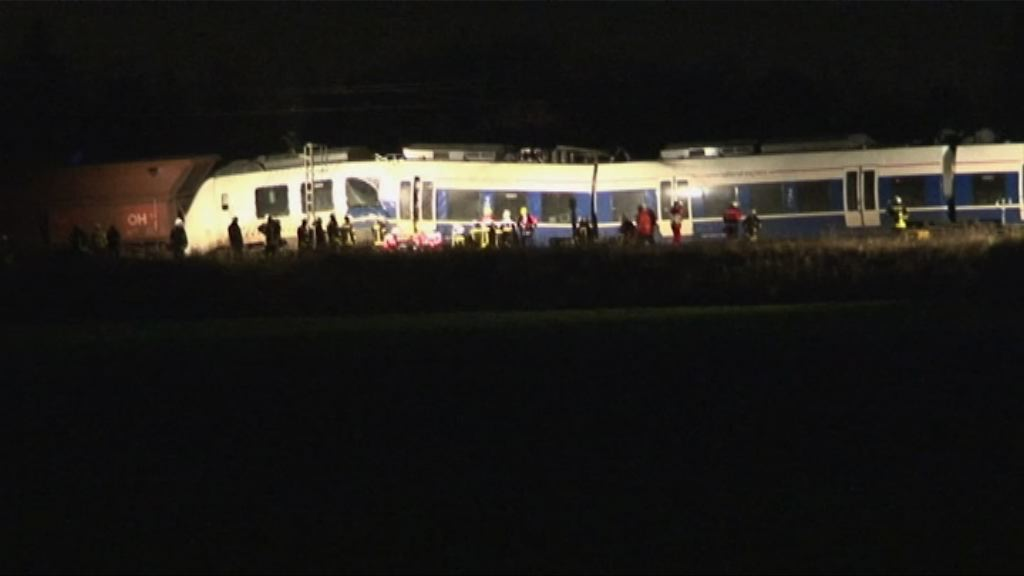 德國兩列火車相撞近五十人受傷