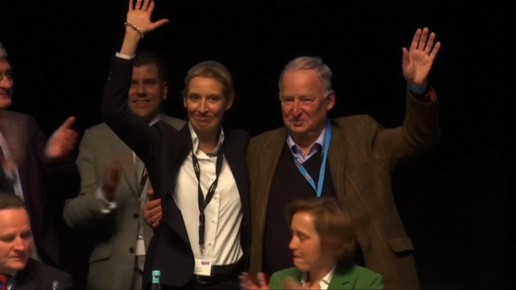德國周日大選 反移民右翼政黨勢成第三大黨