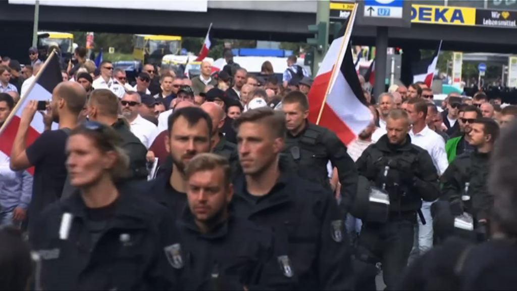 德國新納粹分子遊行與反對者爆衝突