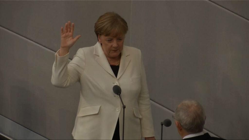 默克爾宣誓就任德國總理