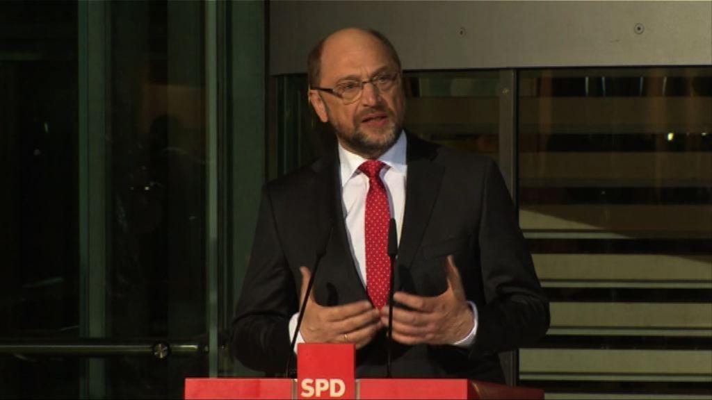 德社民黨推舉舒爾茨選總理