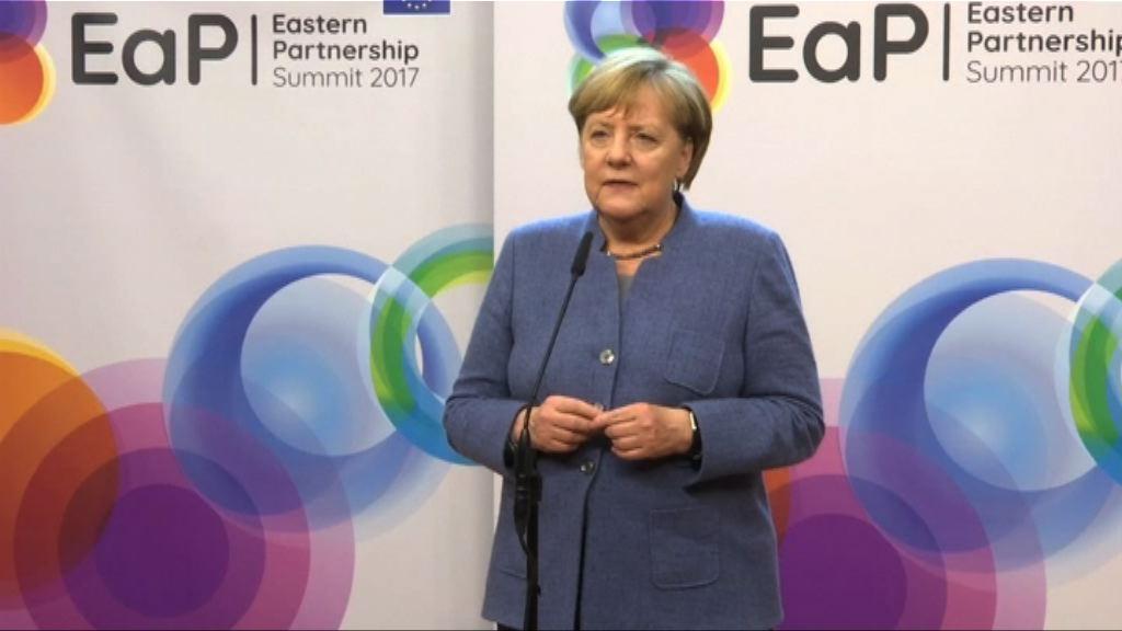 默克爾強調組閣膠着不影響歐盟