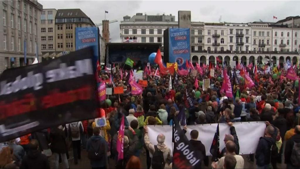 德國漢堡有大型反G20峰會示威