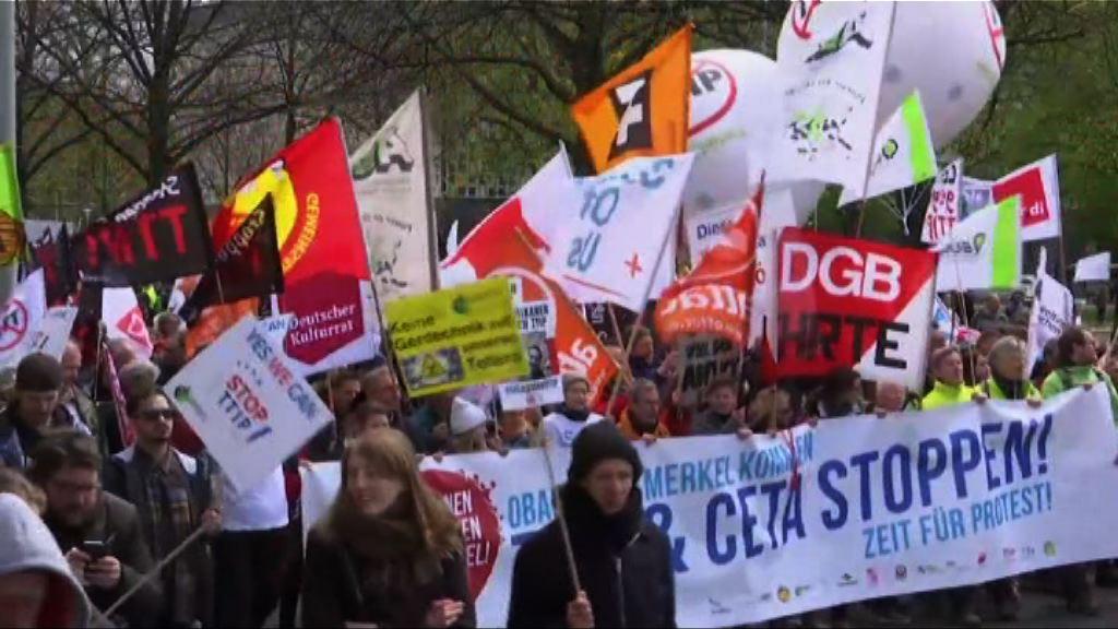 德國民眾示威反對TTIP