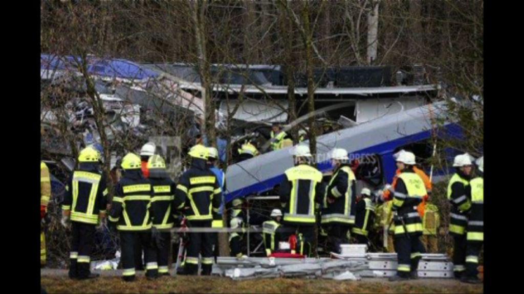 德國南部火車相撞八死百人傷