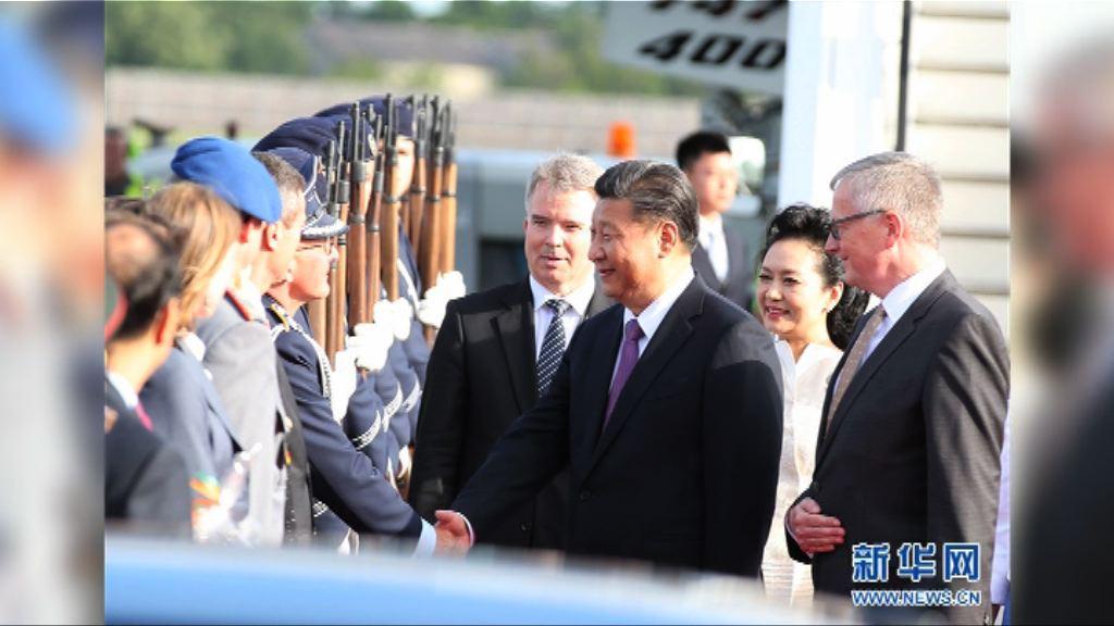 習近平訪德國與總理默克爾會面