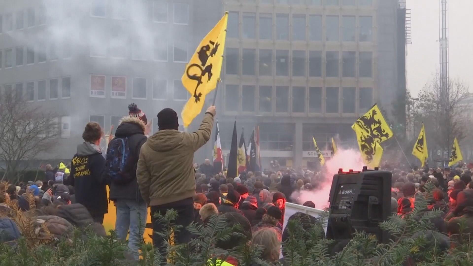 比利時示威抗議確認全球移民協議